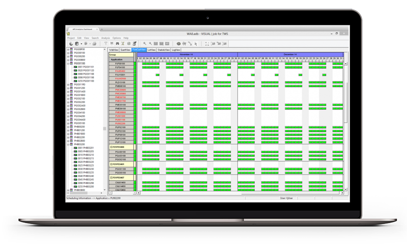 apsware visualjob for IWS - visualize, understand and optimize your IWS schedules