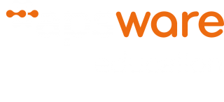 apsware education Logo white-orange